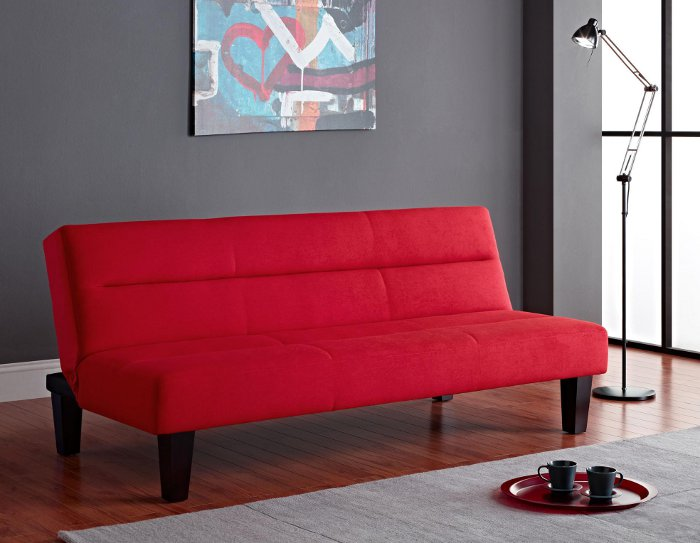 Contemporary Kebo Futon Red by DHP Furniture